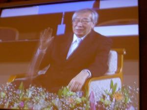 京都会議メインフォーラムで対談をした佐伯啓思京都大学大学院教授