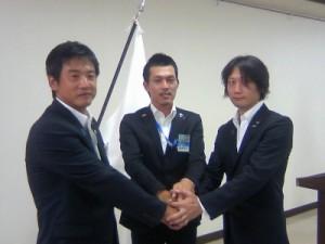 渡部理事長、山﨑次年度理事長予定者、村田直前理事長